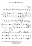 J.S. Bach, Jesu, Joy of Man's Desiring, Oboe and Piano sheet music