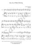J.S. Bach, Jesu, Joy of Man's Desiring, Clarinet Bb and Piano sheet music