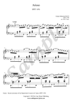 Bach, Arioso in G Major, piano sheet music