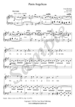 C. Franck Panis Angelicus, voice and piano A major sheet music