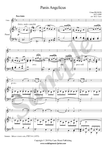 C. Franck, Panis Angelicus sheet music, violin and piano