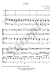 J. Pachelbel, Canon in D Major, 2violins and piano sheet music