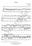 J. Pachelbel, Canon in D Major, violin and piano sheet music