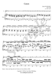 J. Pachelbel, Canon in D Major, flute and piano sheet music