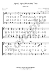 L.v. Beethoven, Joyful Joyful we adore thee, choir sheet music