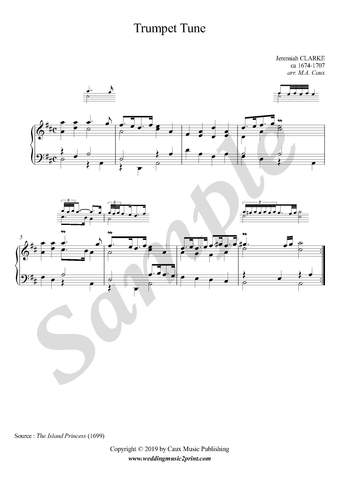 J. Clarke Trumpet Tune, piano solo sheet music