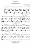 C.F. Gounod, Ave Maria, sheet music for treble recorder and piano