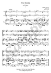 G. Tartini, Andante from trio sonata in D Major, two violins and piano sheet music