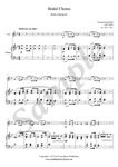 Wagner, Bridal Chorus, violin and piano sheet music