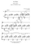 C.F. Gounod, Ave Maria, sheet music for voice and piano