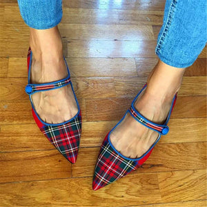 Women's Fashion Simple Pointed Flat Shoes Mules