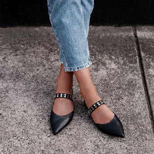 Women's Pointed Flat Sandals And Slippers Mules