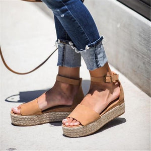 Women's Simple Woven Platform Sandals