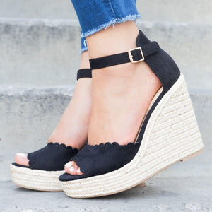 Women's Fashion Versatile Wedge Sandals