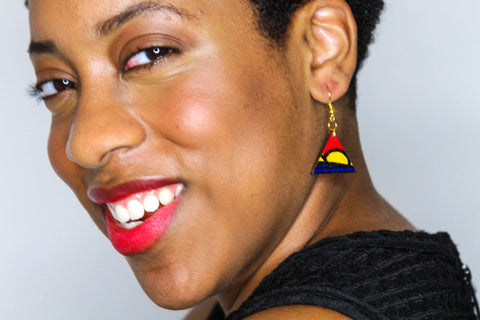 African Inspired Earrings - Kitenge Fabric Earrings from Ceiphers Clothing