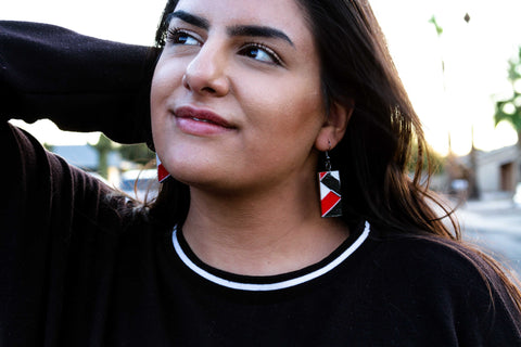 Nawiri Rectangle Earrings from Ceiphers Clothing