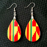 Kente Clothe Tear Drop Earrings