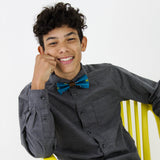 Kid's Dunia Bow Tie with Kitenge fabric from Ceiphers Clothing  (2nd view)