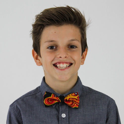 Kid's Mrahaba Bow Tie with Kitenge fabric from Ceiphers Clothing (1st view)