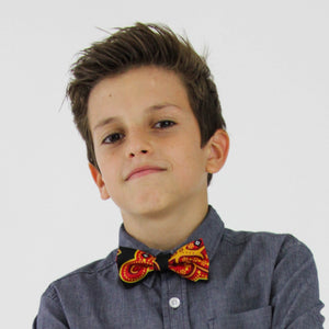Kid's Mrahaba Bow Tie with Kitenge fabric from Ceiphers Clothing (2nd view)