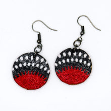Load image into Gallery viewer, Nawiri Circle Earrings from Ceiphers Clothing (Close-Up)