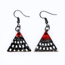 Load image into Gallery viewer, Nawiri Triangle Earrings from Ceiphers Clothing (Close-Up)