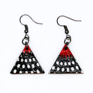 Nawiri Triangle Earrings from Ceiphers Clothing (Close-Up)