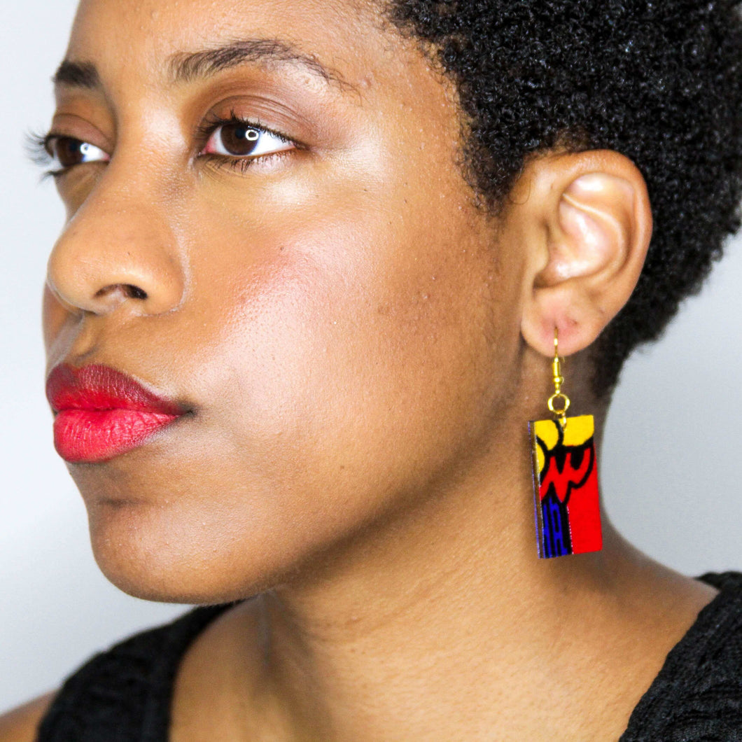 Throwback Rectangle Earrings from Ceiphers Clothing