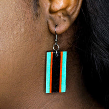 Load image into Gallery viewer, Bandera Rectangle Earrings