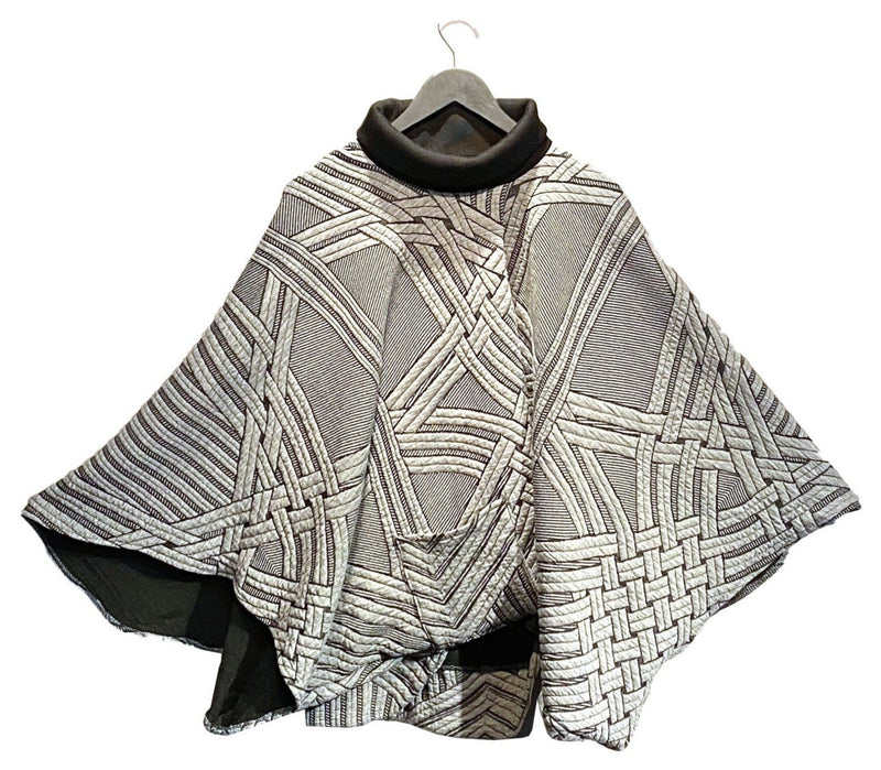 Grey Textured Poncho