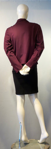 Draped Blazer - Port