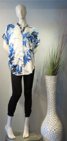 Side Drape Blouse Watercolor