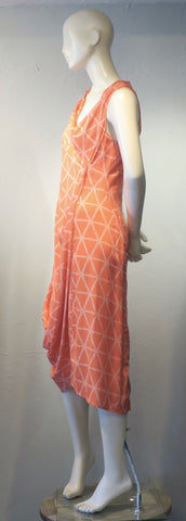 Salmon Swoop Dress
