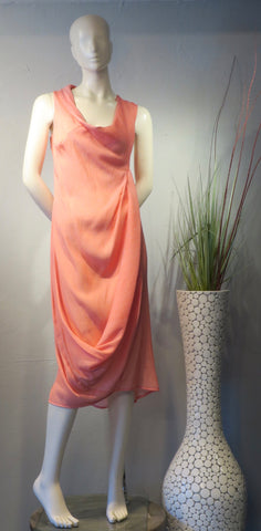 Grapefruit Swoop Dress