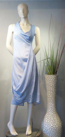 Sky Blue Swoop Dress
