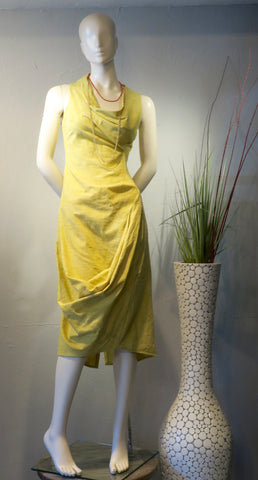 Lemon Swoop Dress