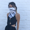 Silk Scarf Reusable Mask - Blurred Black and White (1 Mask)