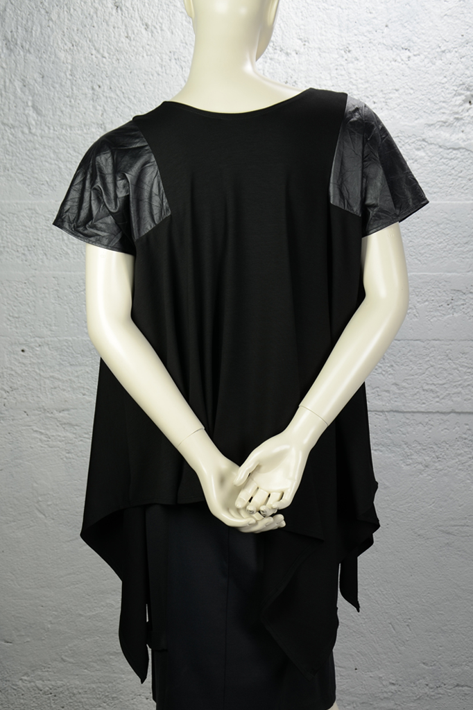 Victor Top - Black w/ Faux Leather
