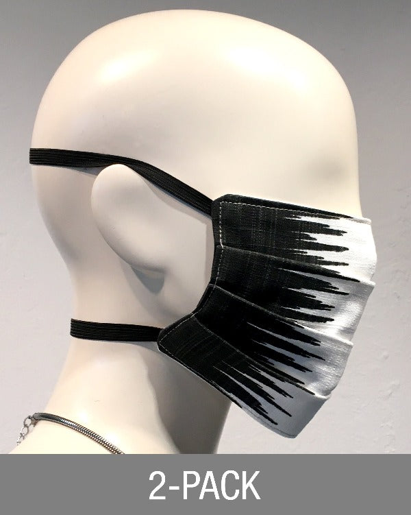 Reusable Mask - Blk/White Frequency  (2-Pack)