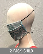 Reusable Mask - KIDS: Mint ZigZag (2-Pack)
