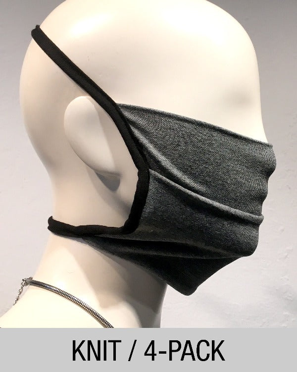 Reusable Mask - KNIT - Grey  (4-Pack)