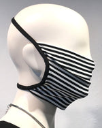 Reusable Mask - KNIT - Optic B/W Stripe  (4-Pack)