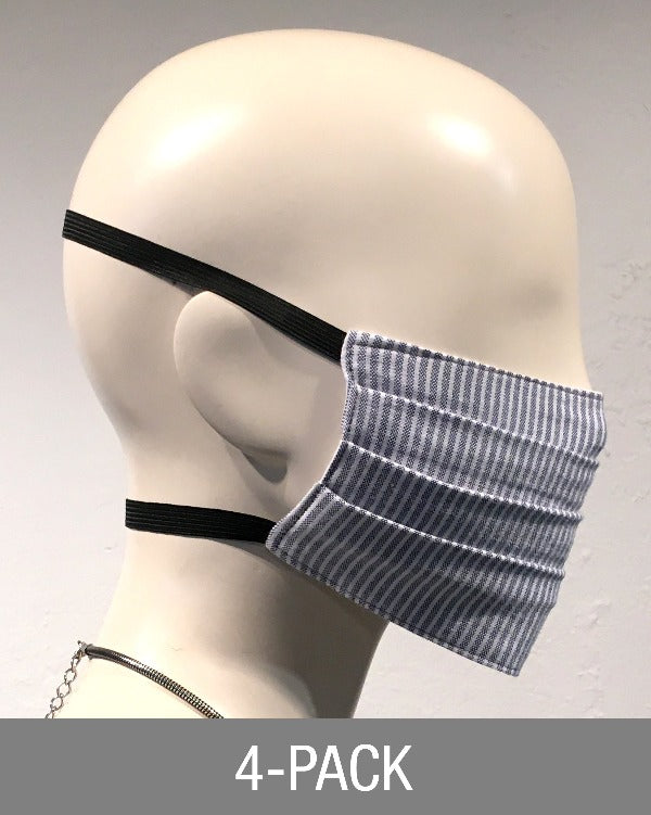 Reusable Mask - Light Blue Stripe (4-Pack)