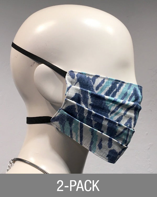 Reusable Mask - Marine Blue Print (2-Pack)