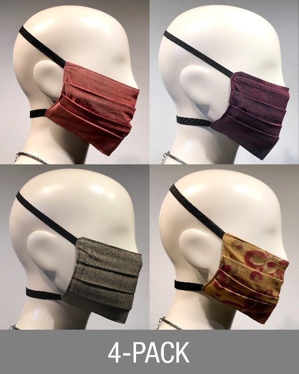 "Reusable Mask - Mixed Fall Organics""  (4-Pack)"