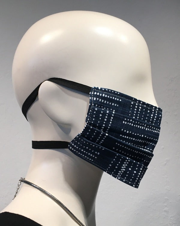 Reusable Mask - Navy Dots (2-Pack)