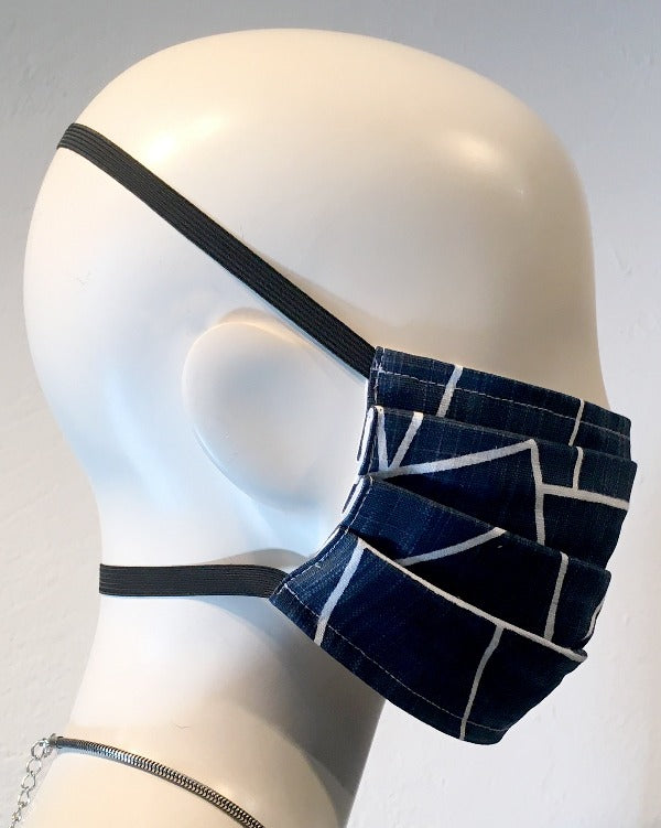 Reusable Mask - Navy Lines  (2-Pack)