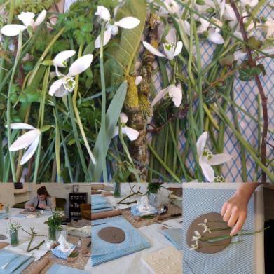 Snowdrop Botanical Tile Workshop