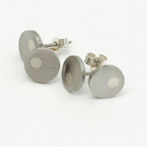 Off-Centre Stud Medium Earrings