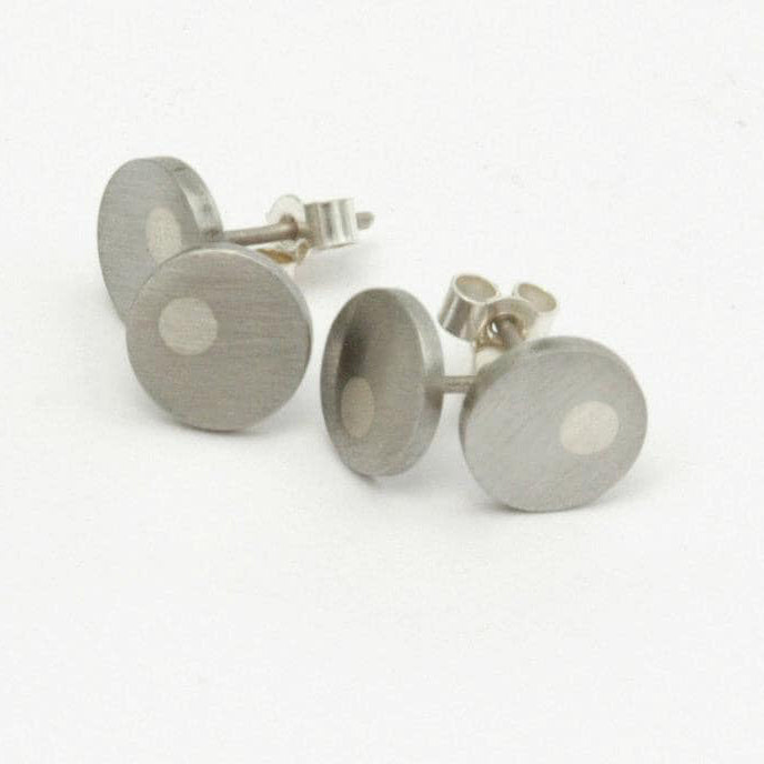 Medium Off-Centre Dot Stud Earrings